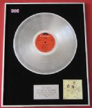 THE WHO - The Who By Numbers PLATINUM LP PRESENTATION Disc